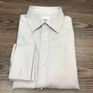Charles Tyrwhitt Light Grey French Cuff Shirt 15.5